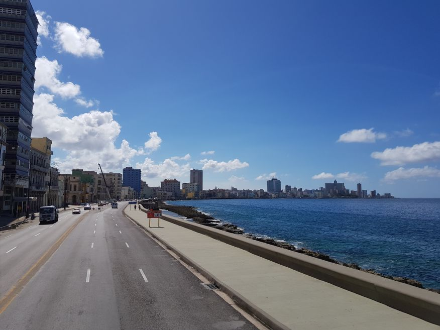 Cruise down the Malecon with it's stunning sea views