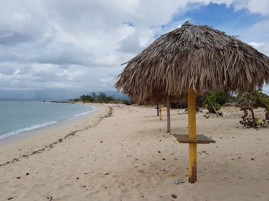 Beach before Playa Ancon Beach Trinidad Cuba