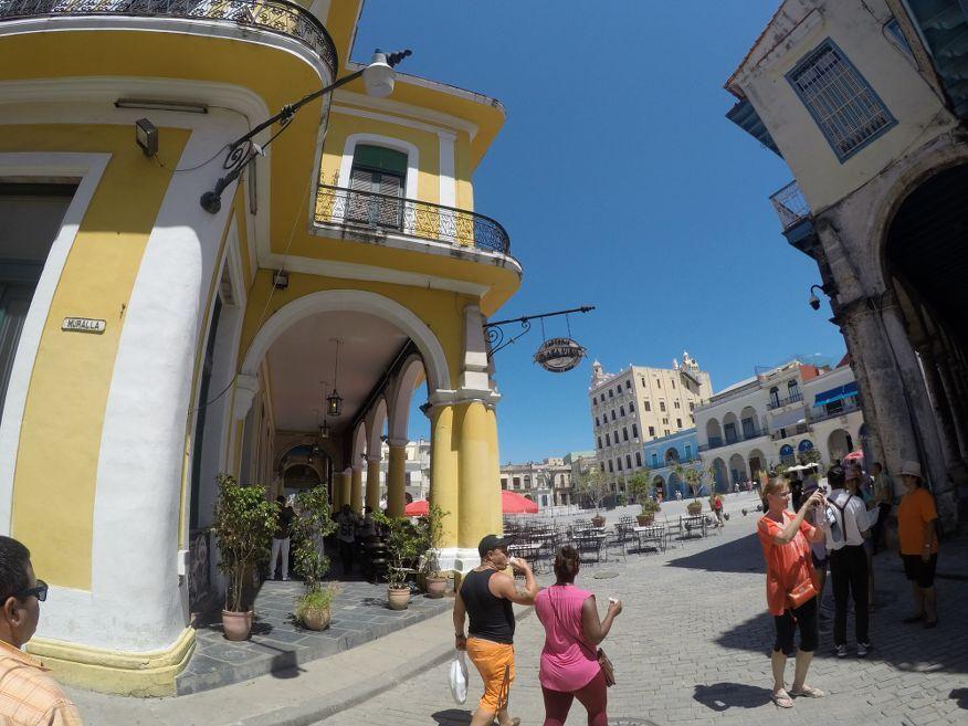 Corner of Plaza Vieja Old Havana Cuba