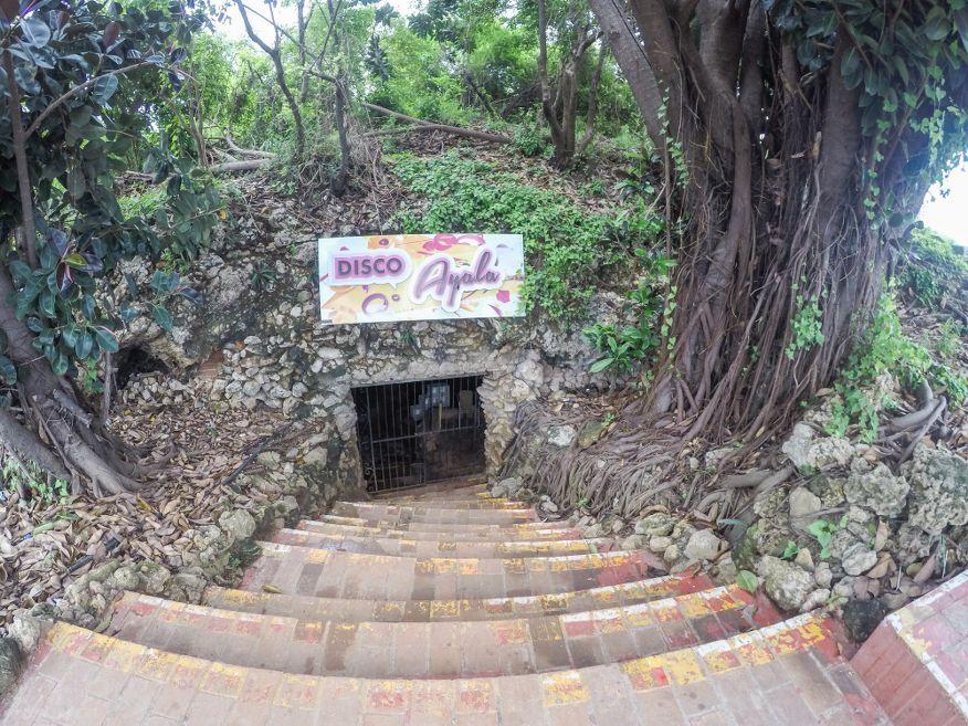 Entrance to Disco Ayala in a cave Trinidad Cuba