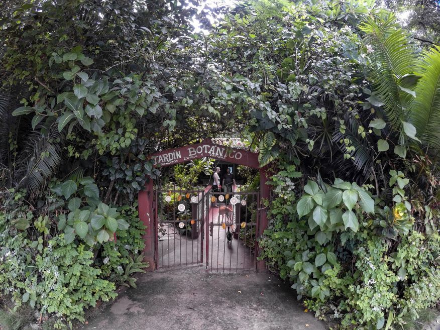 Entrance to Botanical Gardens Vinales Cuba