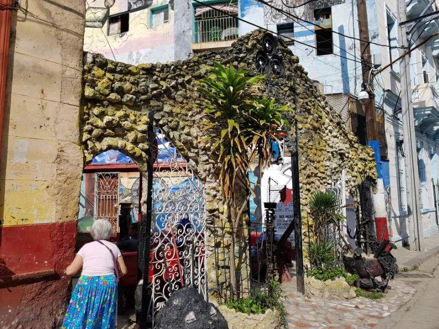 Entrance to Callejon de Hamel Havana Cuba