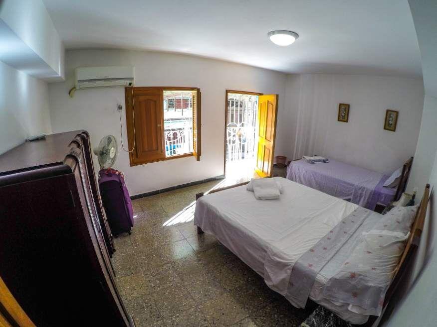 Front bedroom in our Casa in Havana Cuba