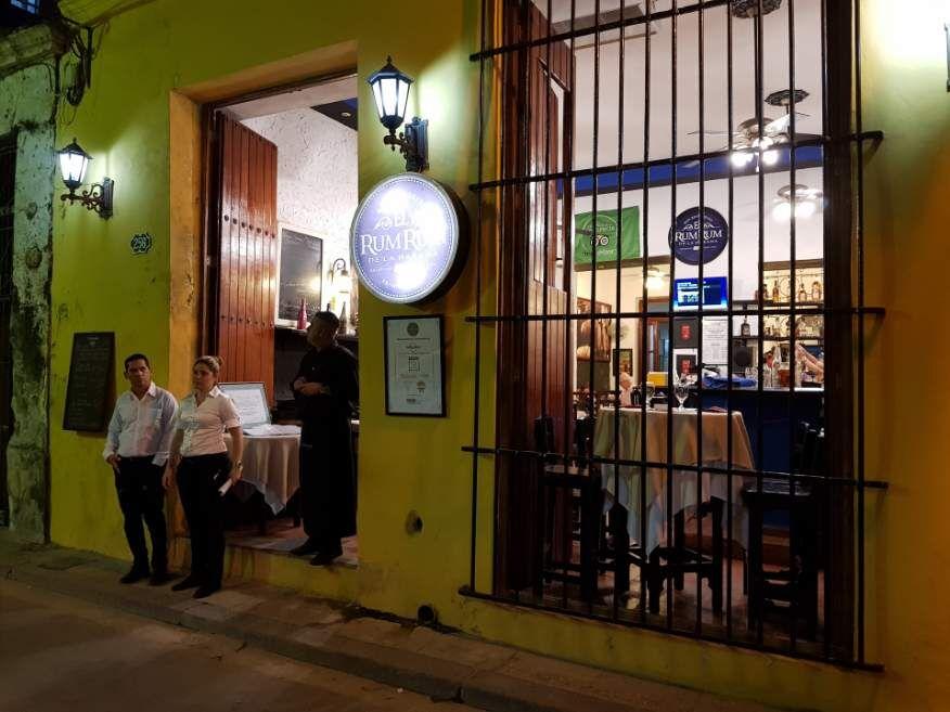 Front of El Rum Rum Restaurant Old Havana Cuba