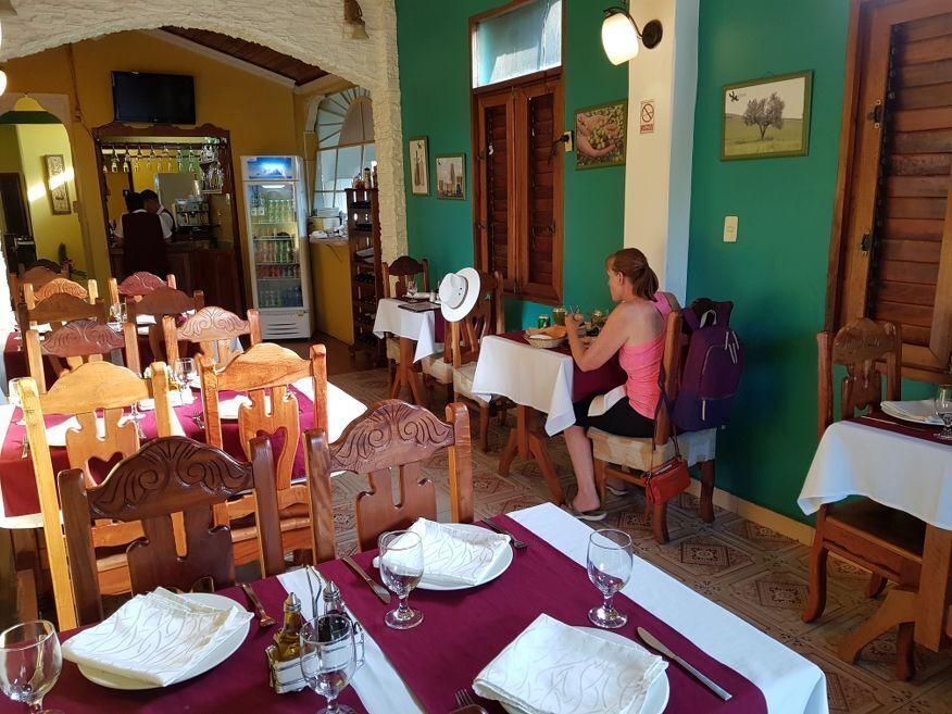 Inside El Olivo Restaurant Vinales Cuba