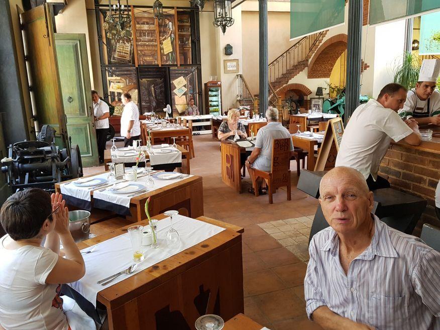 Inside La Imprenta Restaurant Old Havana Cuba