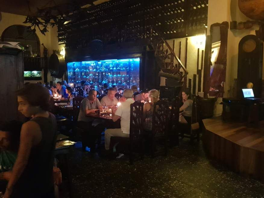 Inside Los Nardos Restaurant Havana Cuba