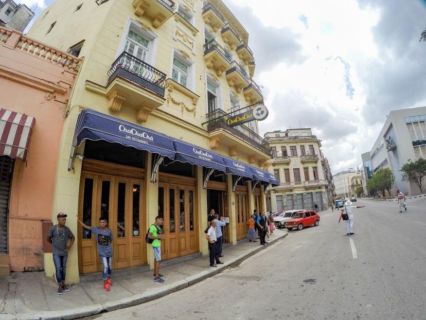 Outside Cha Cha Cha Restaurant Havana
