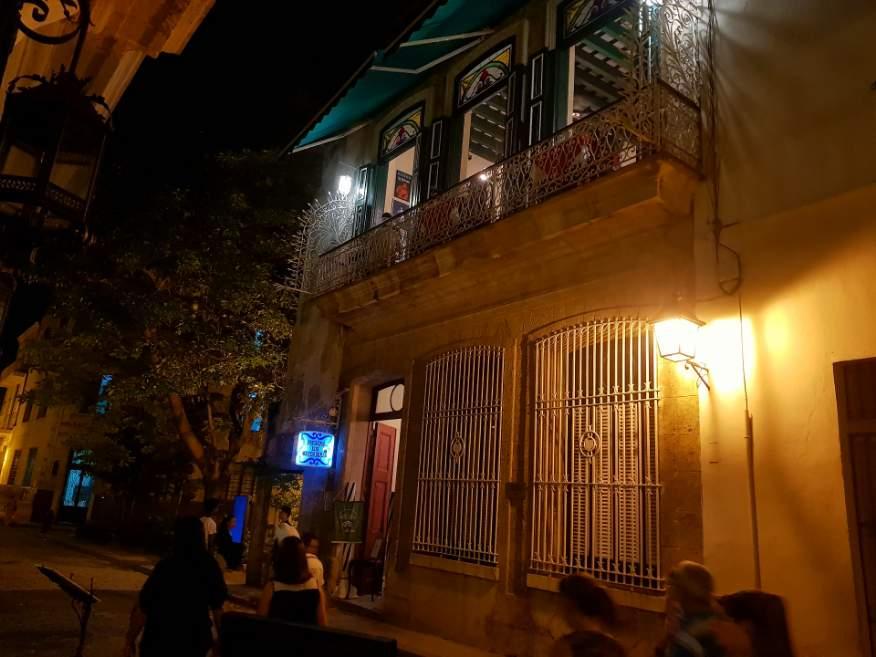Outside Los Mercaderes Restaurant Old Havana Cuba