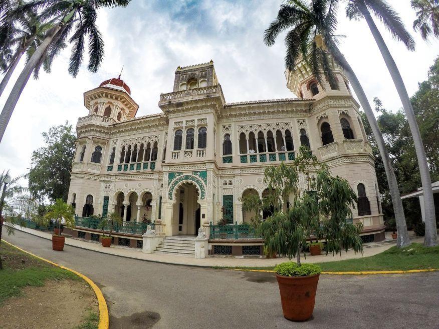 Outside Palacio de Valle Cienfuegos Cuba