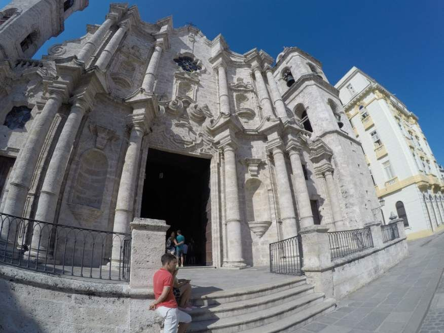 Outside San Cristobal Catherdral Havana Cuba