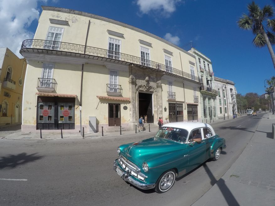Outside the Rum Muesum in Havana Cuba