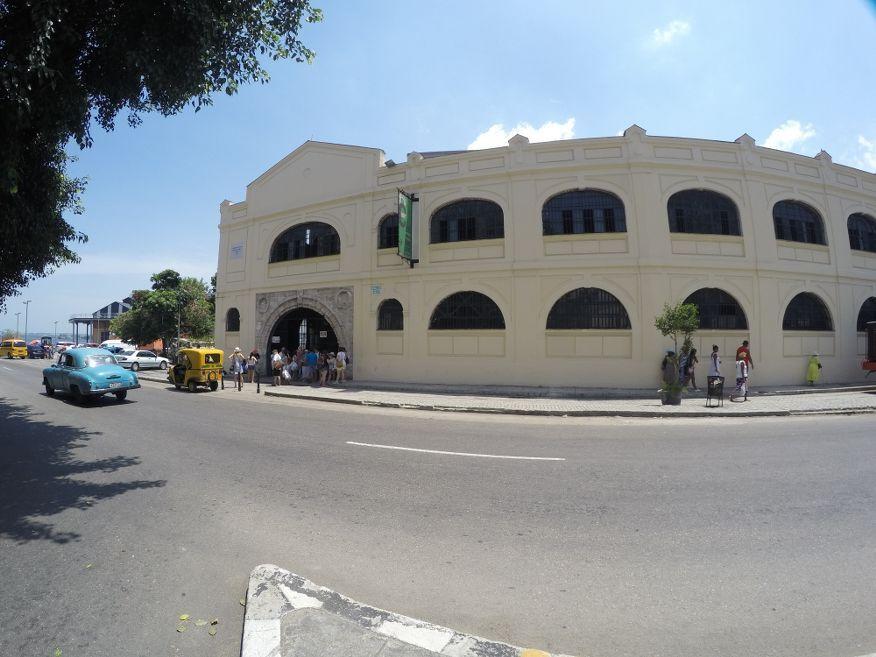 Outside the handicraft markets Havana Cuba