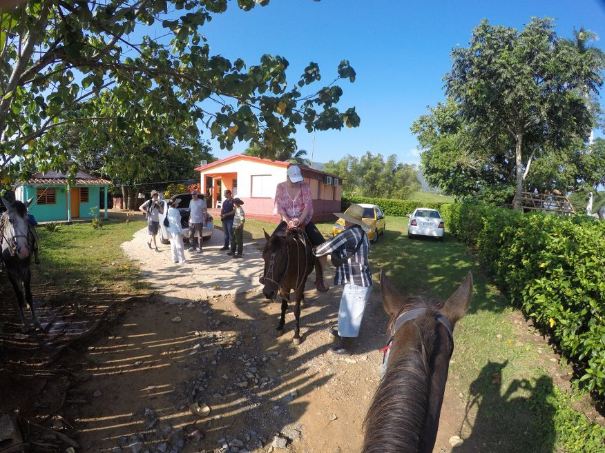 Start of our horse ride tour from Vinales Cuba