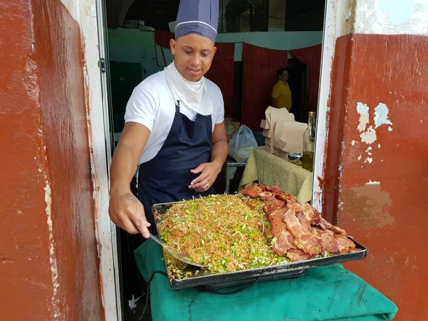 Street food on Obispo St Old Havana Cuba