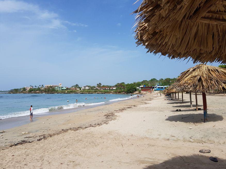 View along Playa Rancho Luna Beach Cienfuegos Cuba