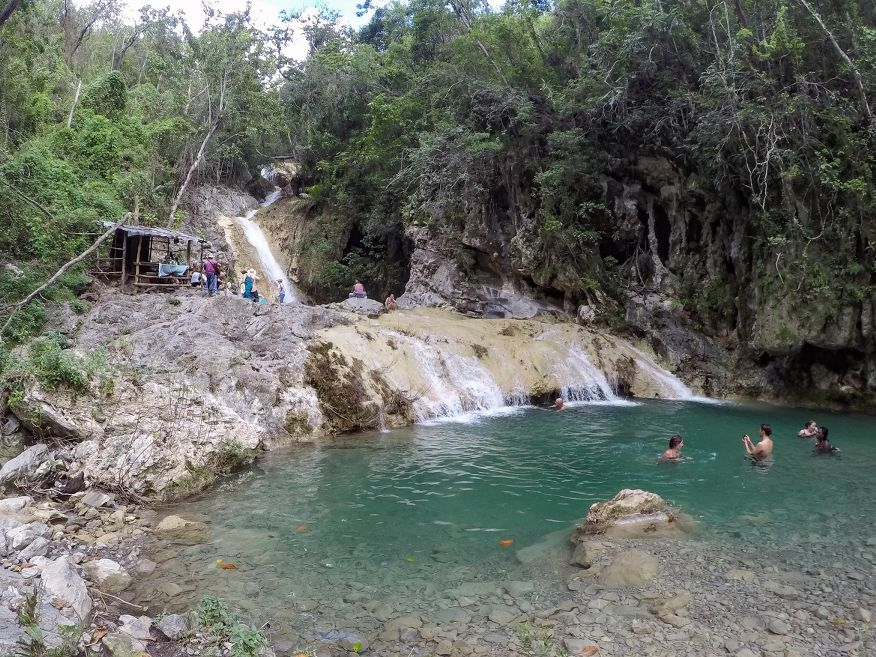 Arrived at the stunning waterfalls Horse Ride Tour to Waterfalls Trinidad Cuba