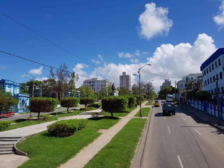 Habana Bus Tour - driving along the very pretty Avenue de los Presidentes