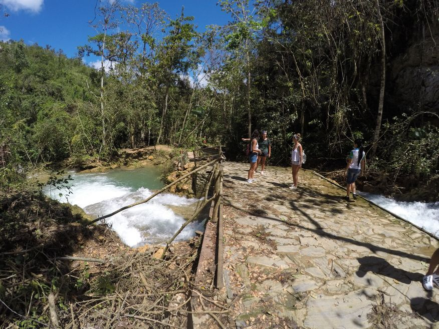 Lots of water at El Nicho Waterfalls Cienfuegos Cuba