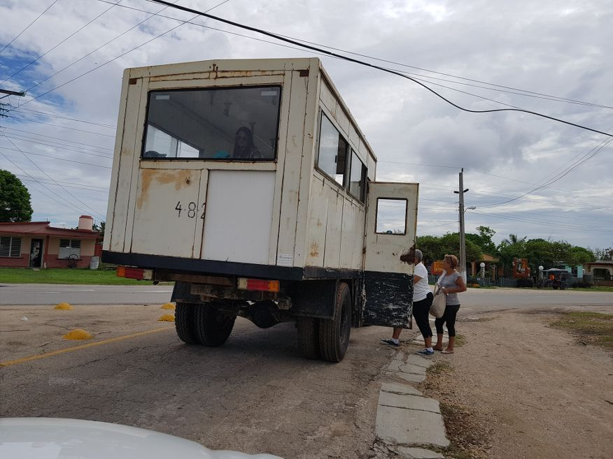 Public transport in the area at Playa Larga Cuba