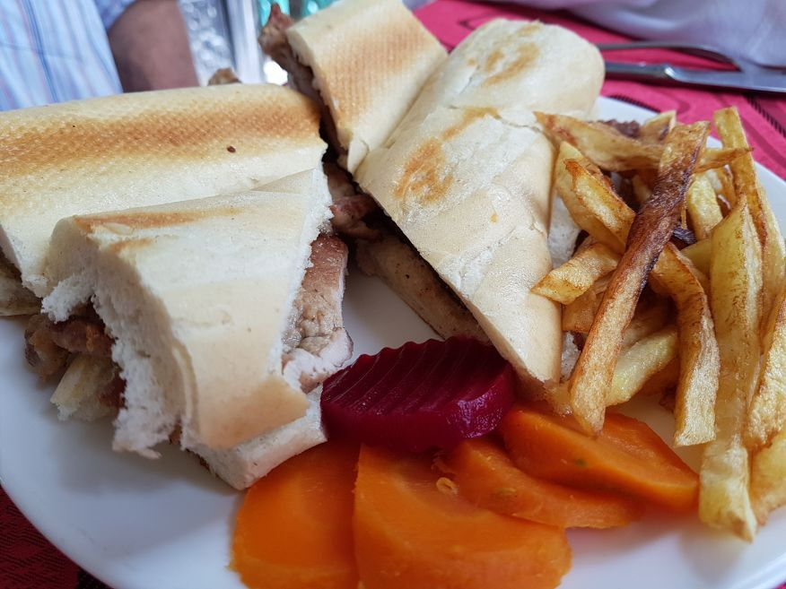 Very nice sandwich at Palacio de Valle Cienfuegos Cuba