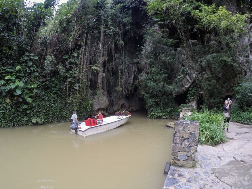 Next boat going into Cueva del Indio  Caves Vinales Cuba