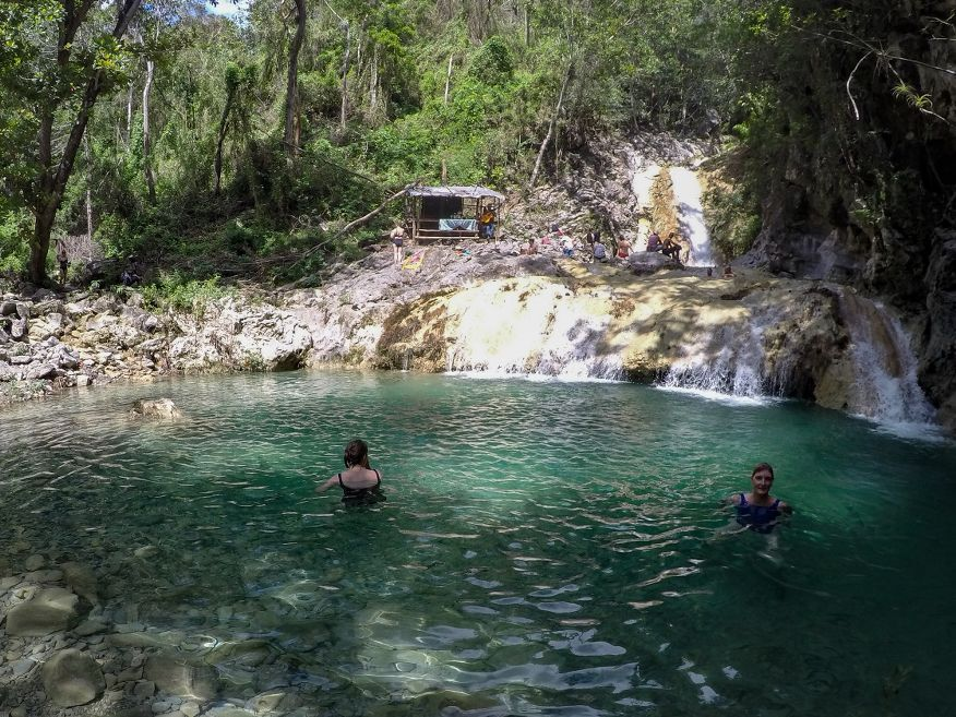 Bottom swimming hole Horse Ride Tour to Waterfalls Trinidad Cuba