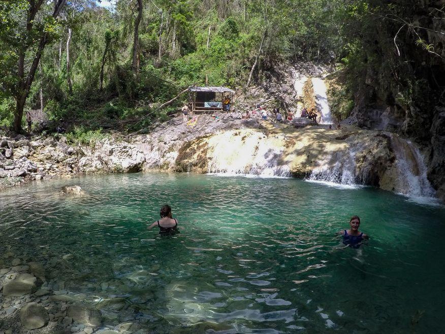 Bottom swimming hole Horse Ride Tour to Waterfalls Trinidad Cuba