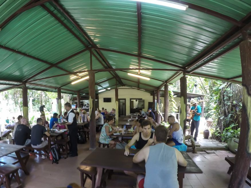 The restaurant at El Nicho Waterfalls Cienfuegos Cuba