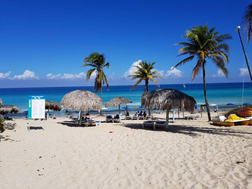 First view of the beach at Playas del Este Havana Cuba