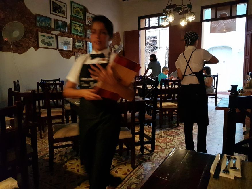 Friendly staff at San Jose Restaurant Trinidad Cuba
