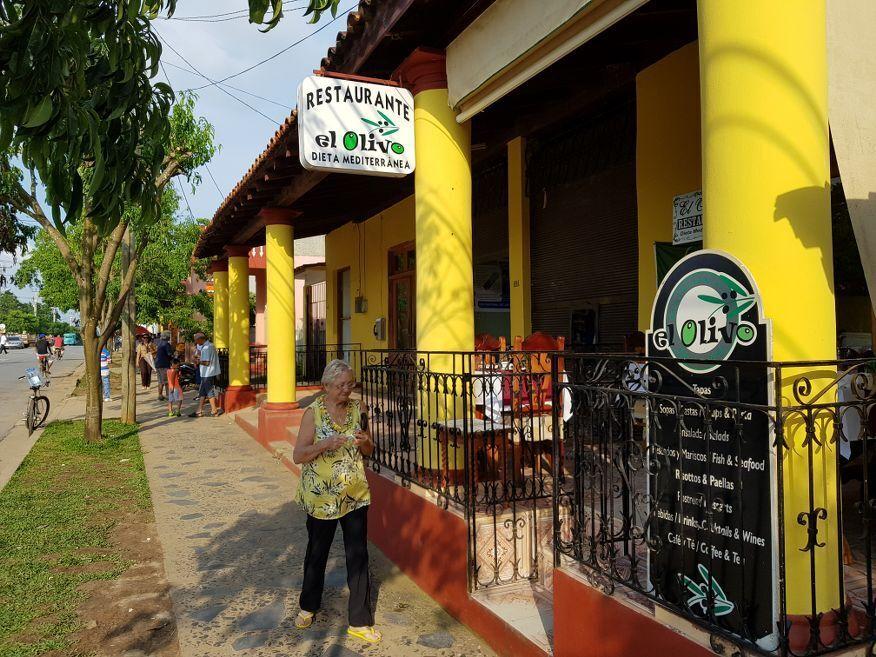 Front of El Olivo Restaurant Vinales Cuba