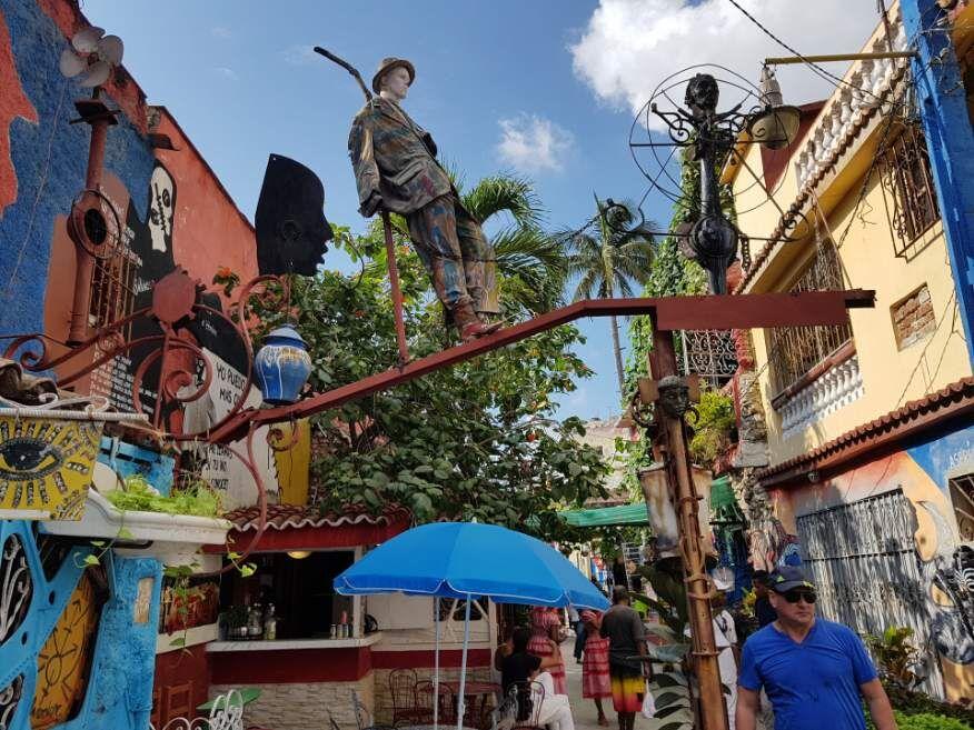 Inside Callejon de Hamel Havana Cuba