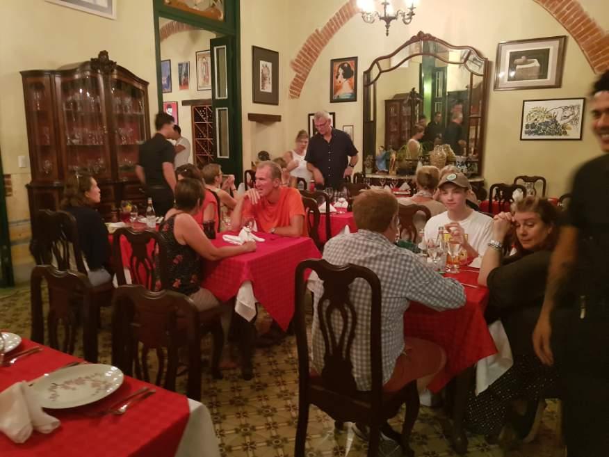 Inside Los Mercaderes Restaurant Old Havana Cuba