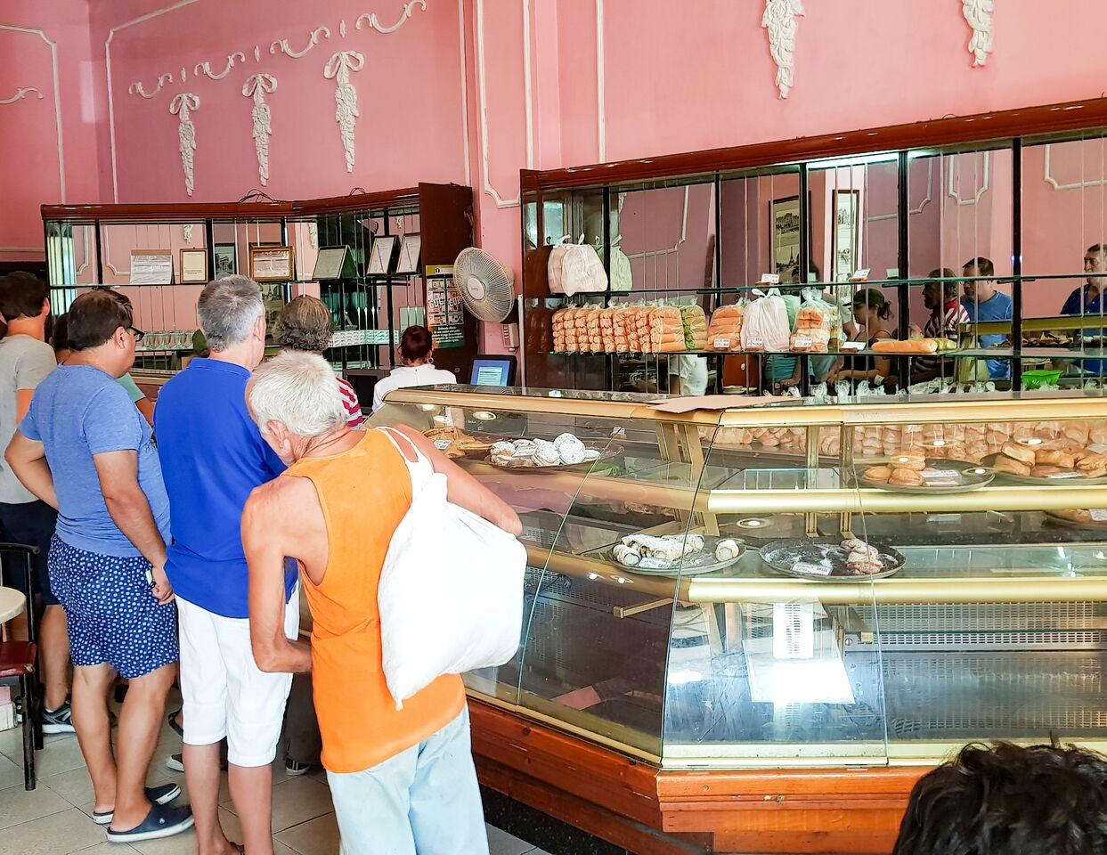 Inside Pasteleria Francesa Bakery Havana Cuba