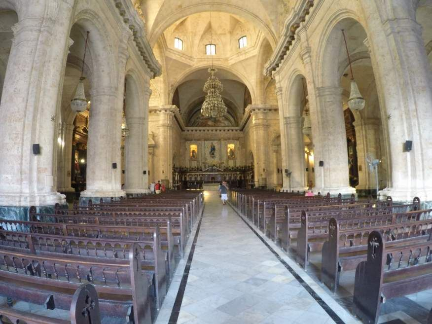 Inside San Cristobal Catherdral Havana Cuba