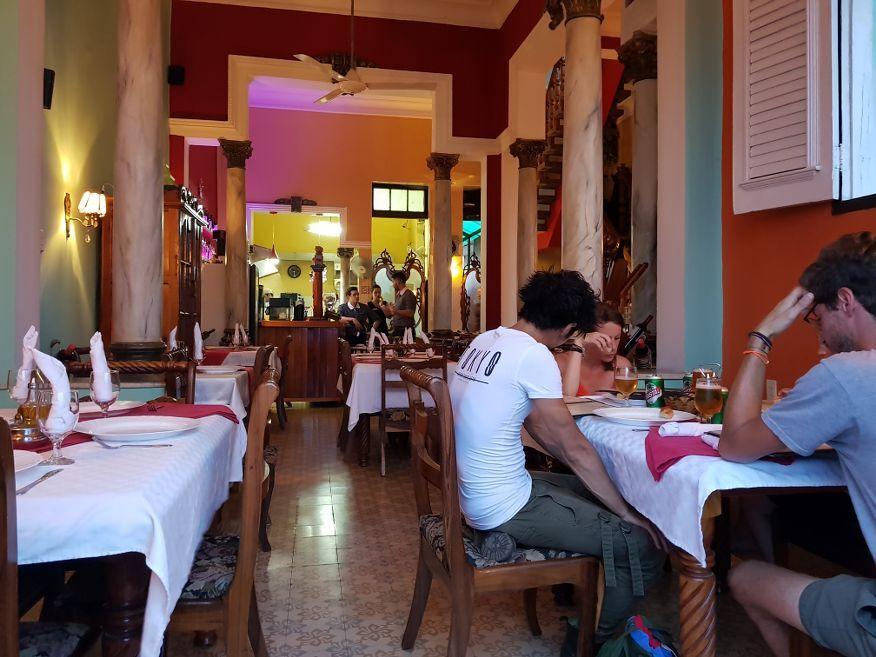 Inside seating at Dona Nora Restaurant Cienfuegos Cuba