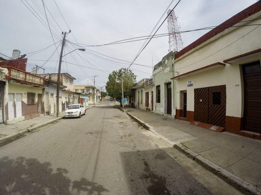 The street Casa Santa Elena Cienfuegos Cuba