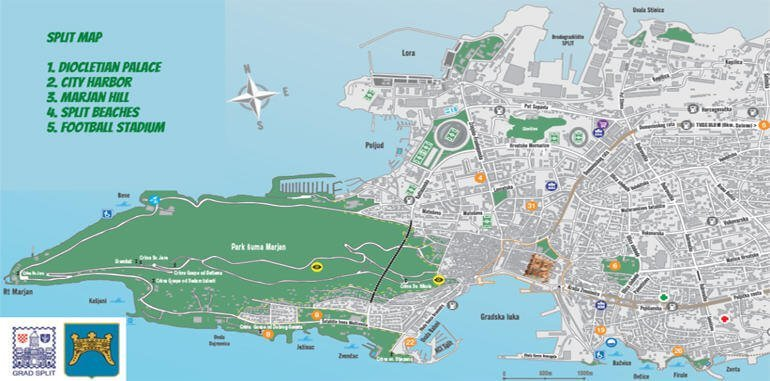 Split Croatia Maps