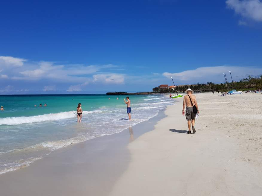 Beach at Varadero still nice and hot in Oct