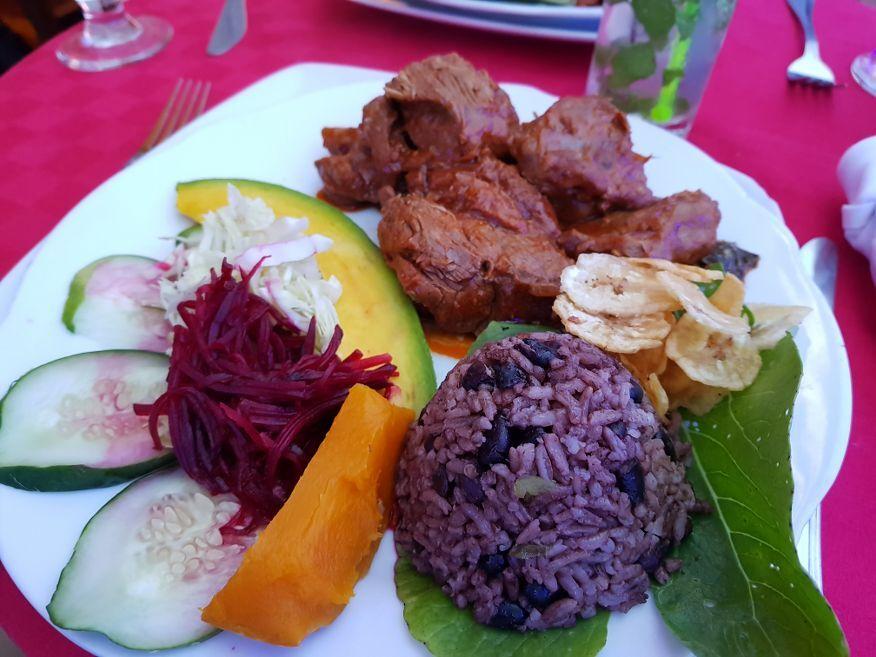Delicious Lamb dish at Dona Nora Restaurant Cienfuegos Cuba