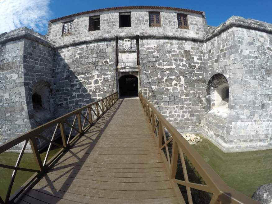 Entrance to Castle of the Royal Force Fort Old Havana Cuba