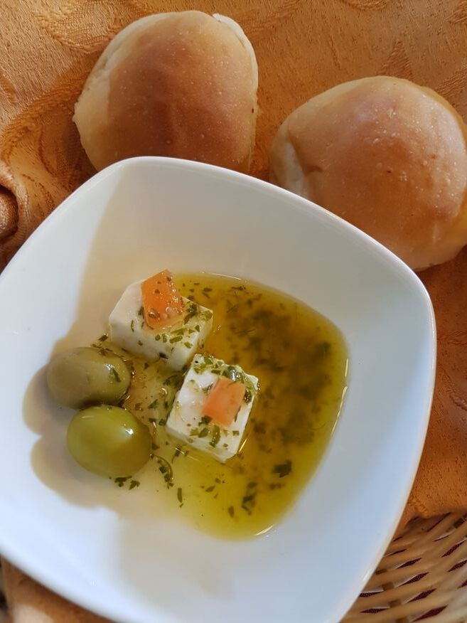 Free starter at El Olivo Restaurant Vinales-Cuba