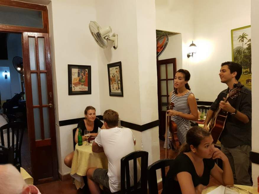 Great little band El Rum Rum Restaurant Old Havana Cuba