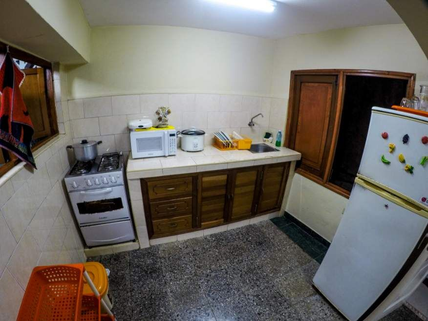 Kitchen in our Casa in Havana Cuba