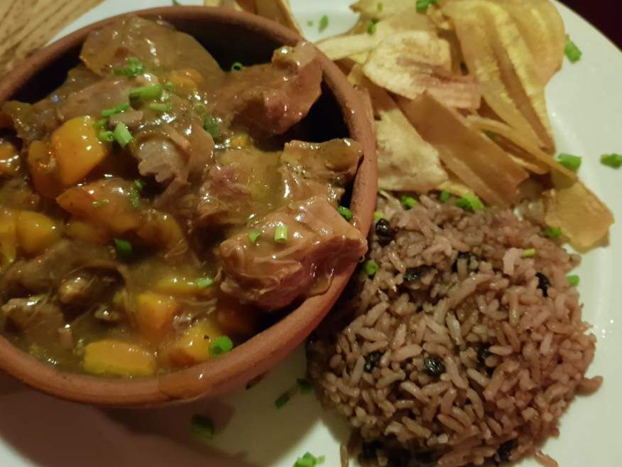 Lamb Curry Ragout at Los Nardos Restaurant Havana Cuba
