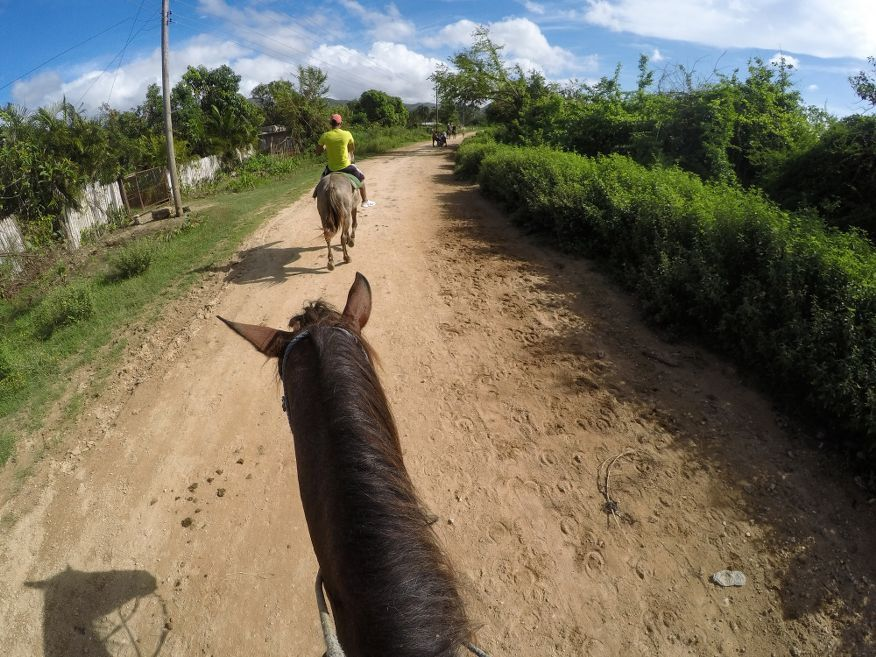 On the road Horse Ride Tour to Waterfalls Trinidad Cuba