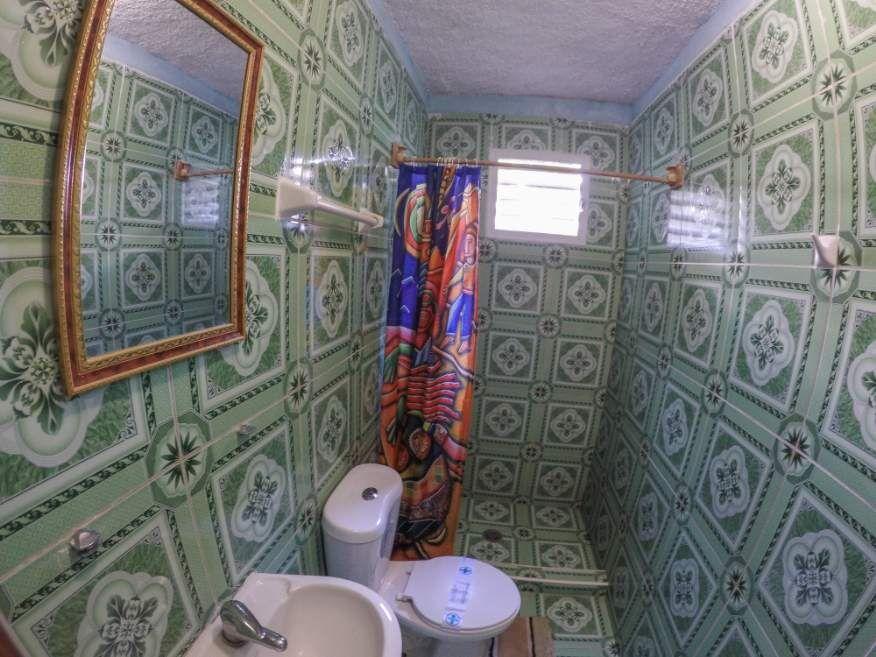 Our bathroom at Casa Orula Chango Trinidad Cuba