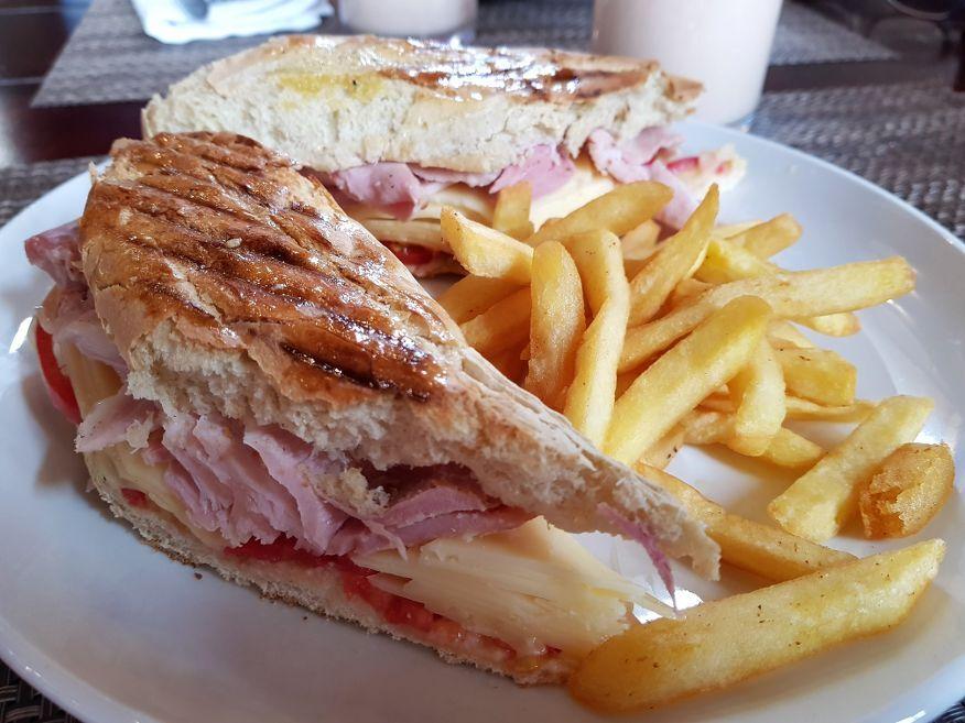 Real ham sandwich at Adita Restaurant Trinidad Cuba
