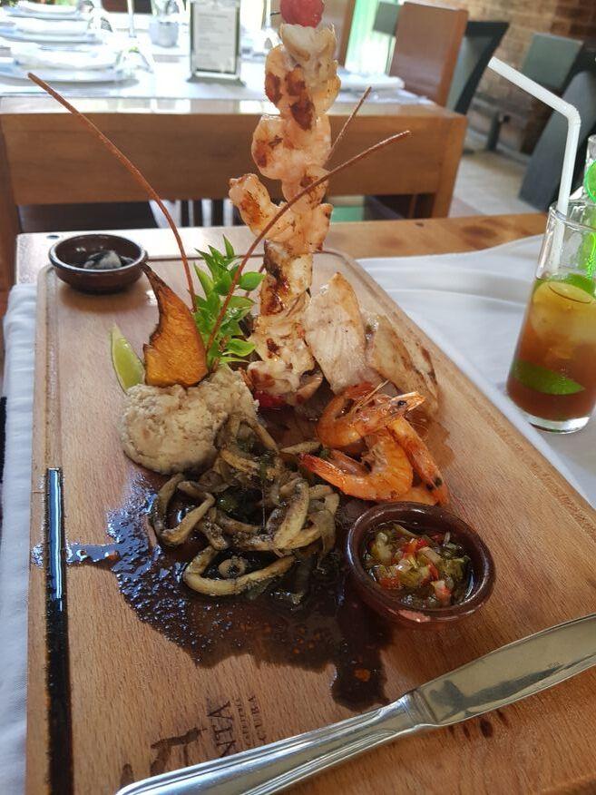 Seafood kebab La Imprenta Restaurant Old Havana Cuba